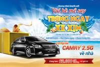 Gửi tiền tại Nam A Bank có cơ hội sở hữu ô tô Toyota Camry 2.5G