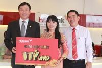 HDBank trao giải thưởng thưởng 1 tỷ đồng cho khách hàng