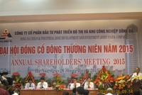 ĐHCĐ Sudico: Chủ tịch Hồ Sỹ Hùng sẽ từ chức nếu không đạt chỉ tiêu 2015