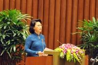 Bà Nguyễn Thị Kim Ngân được đề nghị tái cử Chủ tịch Quốc hội khóa 14