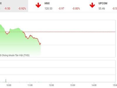 Phiên sáng 18/5: Nhà đầu tư đứng nhìn, VN-Index tiếp tục lùi sâu