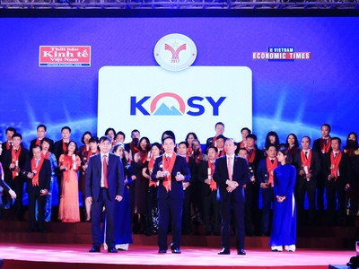 """Năm thứ 2 liên tiếp Kosy Group nhận giải  """"Thương hiệu mạnh Việt Nam"""""""