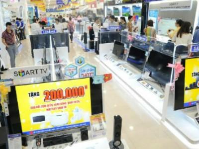 TV màn hình lớn đua giảm giá trước Tết