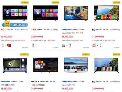 TV màn hình lớn 2018 đua cạnh tranh về giá