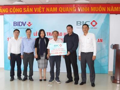 BIC chi trả bảo hiểm hơn 800 triệu đồng cho khách hàng tại Nha Trang