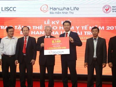 Năm 2018 Hanwha Life Việt Nam sẽ trao tặng 8.149 thẻ bảo hiểm y tế