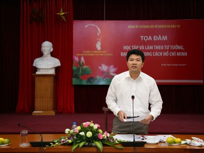 """Bộ Kế hoạch và Đầu tư Tọa đàm """"Học tập và làm theo tư tưởng, đạo đức, phong cách Hồ Chí Minh"""""""