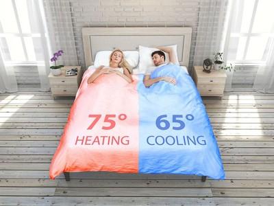 Giường ngủ chia đôi nhiệt độ theo sở thích của từng người