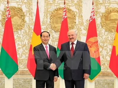 Phấn đấu nâng kim ngạch thương mại Việt Nam - Belarus lên 500 triệu USD trong hai năm tới