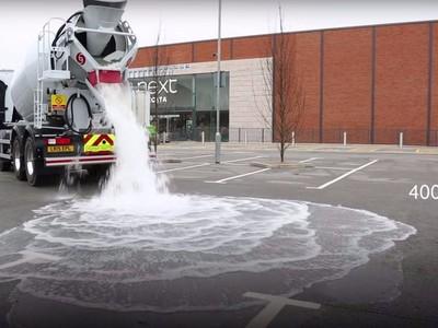 Chống ngập úng đường phố bằng bê tông hút nước