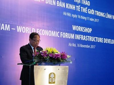 Bộ Kế hoạch và Đầu tư hợp tác với Diễn đàn Kinh tế thế giới về lĩnh vực hạ tầng