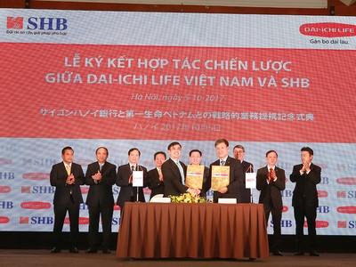 Dai-ichi Life Việt Nam và SHB ký kết hợp tác chiến lược 15 năm