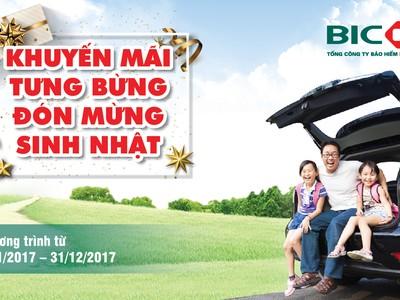 BIC ưu đãi lớn gói sản phẩm bảo hiểm xe và sức khỏe