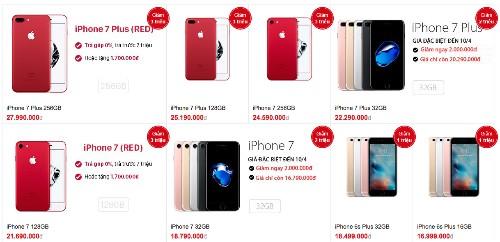 iPhone chính hãng đồng loạt giảm giá hàng triệu đồng