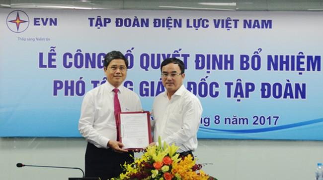 Tập đoàn Điện lực Việt Nam có Phó Tổng Giám đốc mới