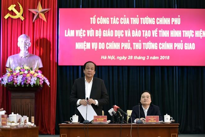 Tổ công tác của Thủ tướng báo cáo Chính phủ kết quả kiểm tra