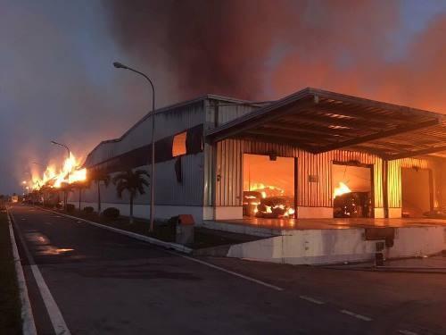 Khu công nghiệp ở Quảng Ninh cháy lớn nhiều giờ