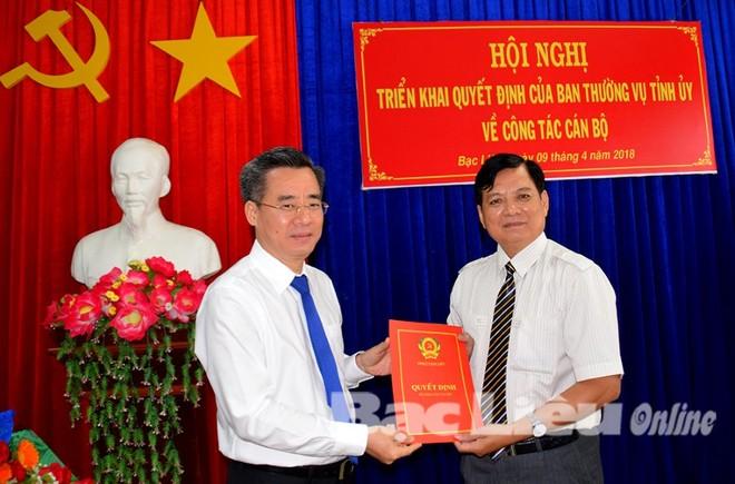 Nhân sự mới tỉnh Quảng Ninh, Bạc Liêu