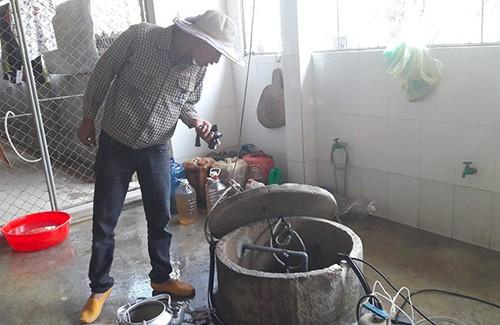 Nước giếng ở Hà Tĩnh bốc cháy như dầu hỏa