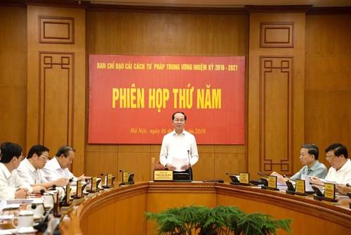 Chủ tịch nước chủ trì phiên họp Ban Chỉ đạo Cải cách tư pháp Trung ương