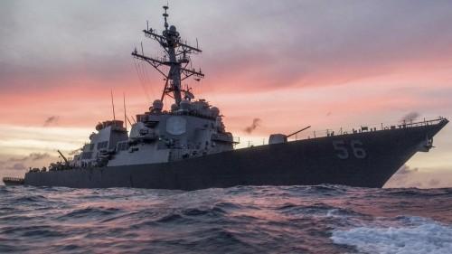 Tàu chiến Mỹ va chạm tàu thương mại gần eo biển Malacca