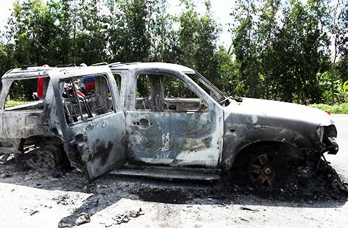 Giám đốc bị phóng hỏa trong ôtô đã tử vong
