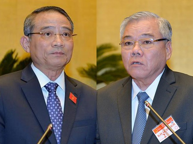 Quốc hội tiến hành miễn nhiệm Bộ trưởng Bộ Giao thông Vận tải và Tổng Thanh tra Chính phủ