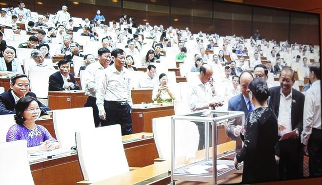 466 đại biểu Quốc hội bỏ phiếu bầu Bộ trưởng Bộ Giao thông Vận tải và Tổng thanh tra Chính phủ