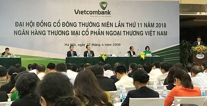 Đại hội đồng cổ đông Vietcombank 2018: Chưa tìm được ngân hàng nào để M&A