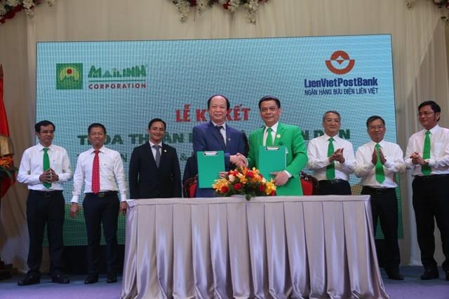 LienVietPostBank ký kết Thỏa thuận hợp tác toàn diện với Mai Linh Group