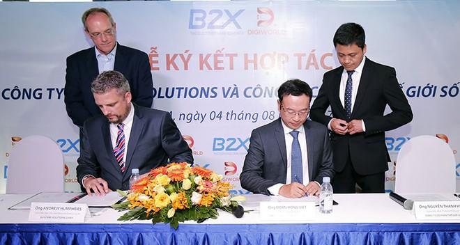 B2X và Digiworld hợp tác thành lập công ty liên doanh