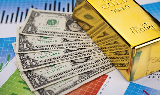 Giá vàng nhìn từ giá đồng bạc xanh
