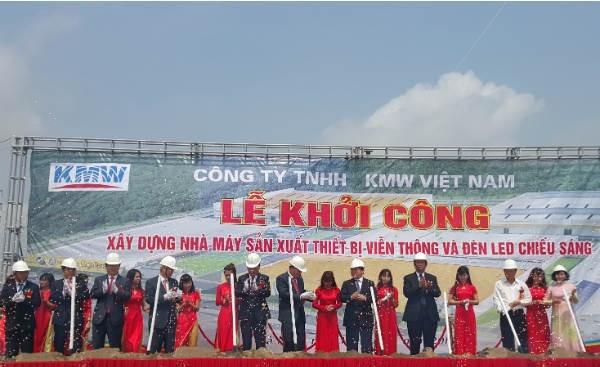 KMW Hàn Quốc khởi công dự án 100 triệu USD ở Hà Nam