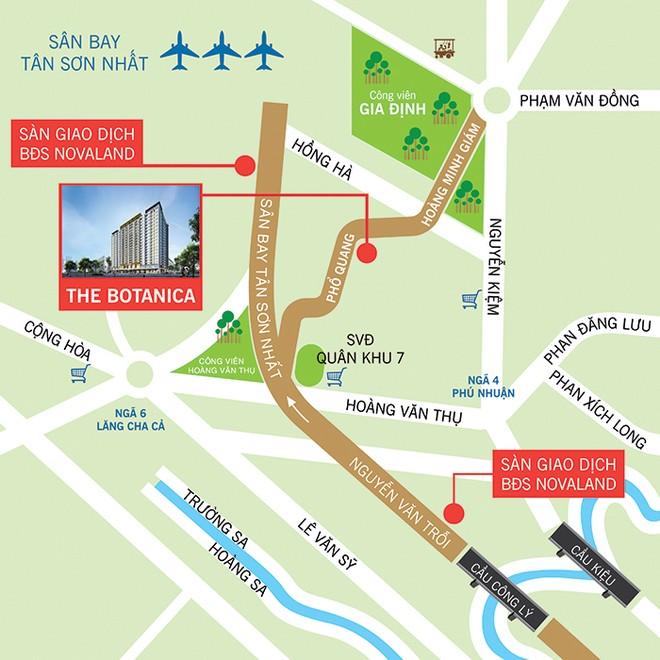 166 triệu đồng có thể sở hữu căn hộ Dự án The Botanica gần sân bay