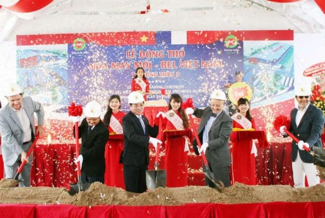 Bel Việt Nam khởi công nhà máy 17 triệu USD sản xuất phô mai Con bò cười