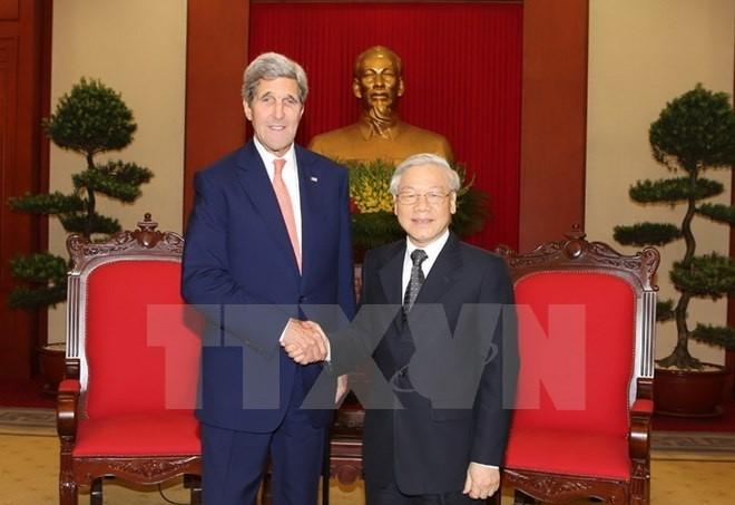 Ngoại trưởng John Kerry: Hoa Kỳ coi trọng tăng cường quan hệ với Việt Nam