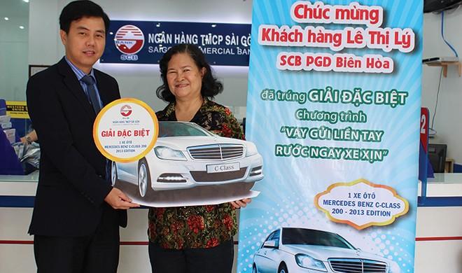 SCB trao thưởng ô tô Mercedes Benz cho khách hàng gửi tiết kiệm