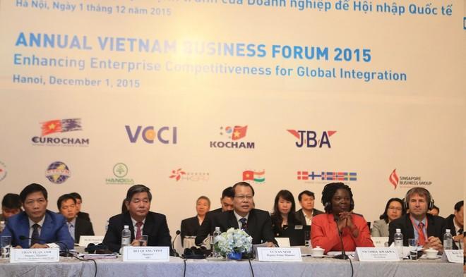 VBF cuối kỳ 2015: Kiến nghị giải tỏa nhiều điểm nghẽn