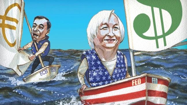 Thách thức từ sự khác biệt chính sách lãi suất của Mỹ và châu Âu