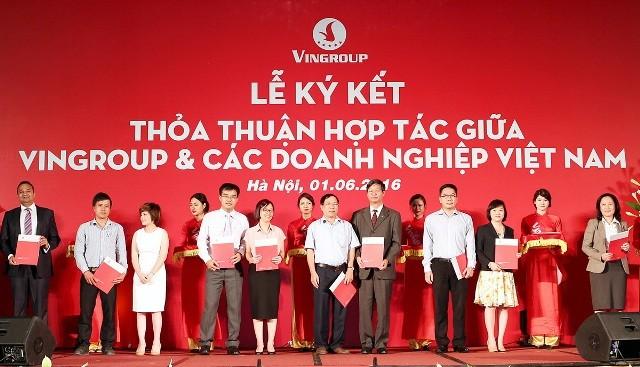 Vingroup bắt tay 250 doanh nghiệp thúc đẩy sản xuất nội địa