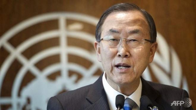 Tổng thư ký Liên hợp quốc Ban Ki-moon kêu gọi các bên ở Biển Đông tuân thủ luật pháp quốc tế