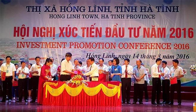 Trên 4.000 tỷ đồng đăng ký đầu tư vào thị xã Hồng Lĩnh (Hà Tĩnh)