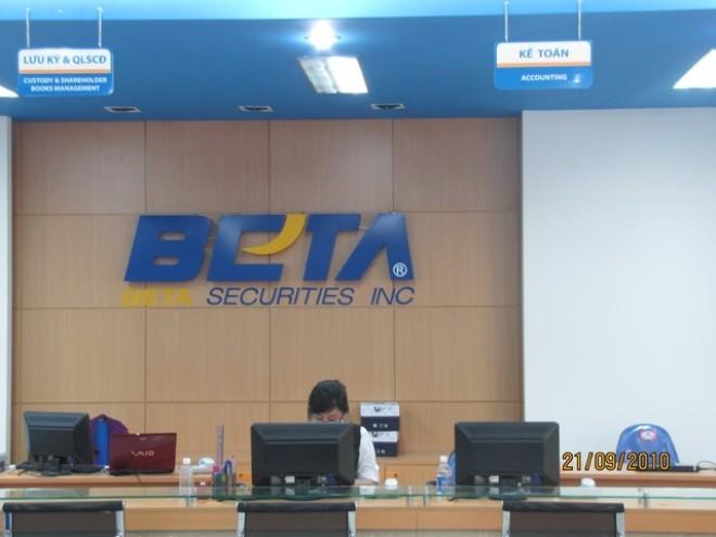 Chứng khoán Beta lỗ nặng vì tự doanh