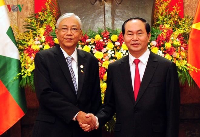 Tuyên bố chung Việt Nam - Myanmar nhân chuyến thăm của Tổng thống Htin Kyaw