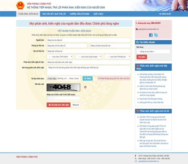 Triển khai kênh thông tin tương tác giữa Chính phủ với người dân, doanh nghiệp