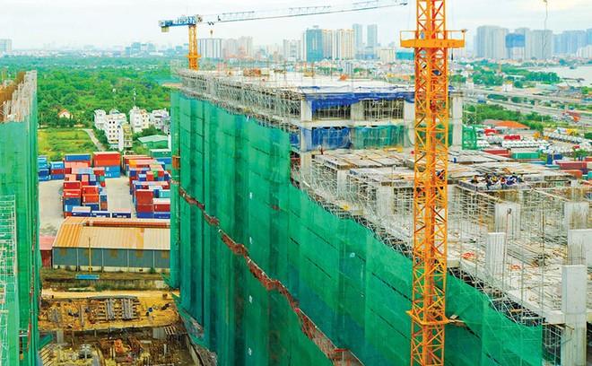 Dự án Him Lam Phú An, quận 9 cất nóc sau gần 1 năm thi công