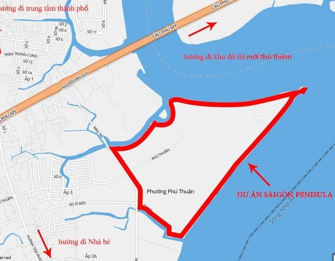 Cảnh báo nguy cơ ùn tắc giao thông tại siêu Dự án tỷ USD Saigon Peninsula
