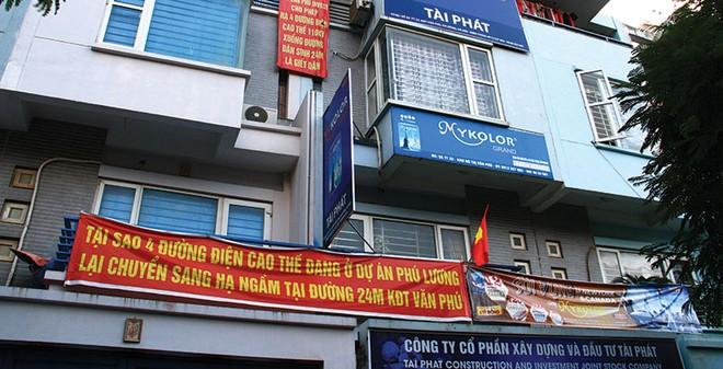 Người dân Văn Phú bất bình với dự án hạ ngầm đường điện