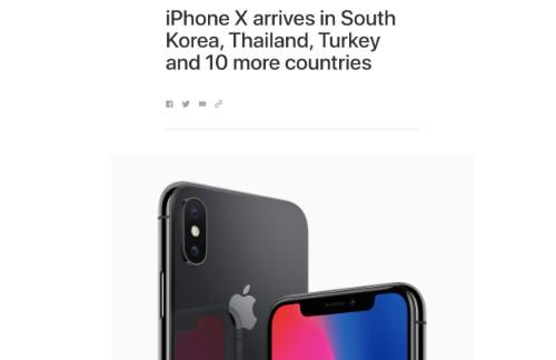 Apple tiếp tục mở bán iPhone X tại Thái Lan, Campuchia