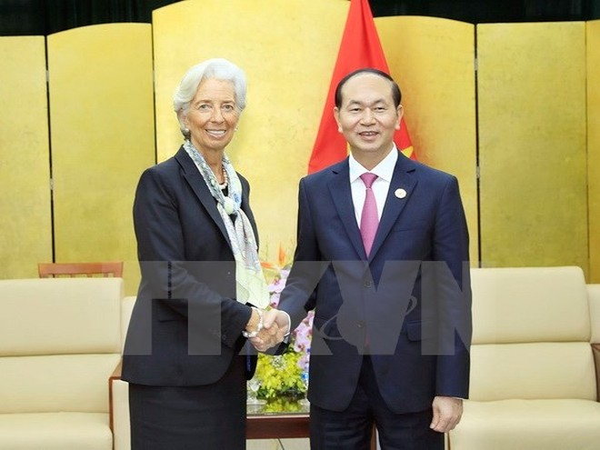 Chủ tịch nước tiếp Tổng Giám đốc IMF Christine Lagarde